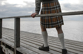 Readzmade imported kilt, Thompson Camel tartan